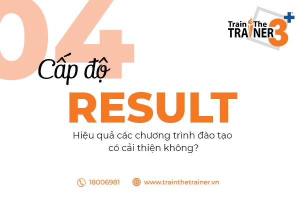 Cấp độ 04: Đánh giá hiệu quả đào tạo thông qua hiệu quả công việc.
